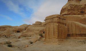 Stone monolith, Wadi Musa, Petra