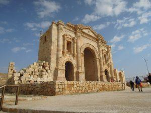 Hadrian's gate Jerash, Jordan