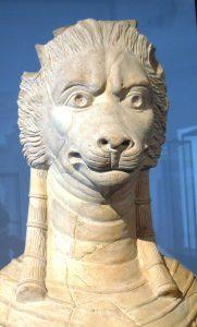 Tanit, lion faced Punic goddess, Bardo Museum, Tunis, Tunisia