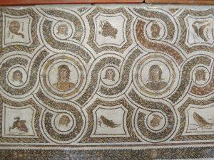Scene from the dining room, Roman Mosaic, Bardo Museum Tunisia