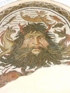 God Ocean, Roman Mosaic, Bardo Museum, Tunis, Tunisia