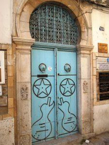 The door, Tunis old town, Tunisia