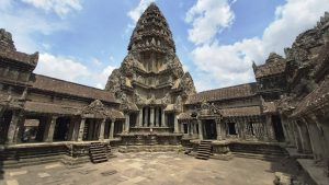 Angkor Wat - Central tower, the holiest place in the temple
