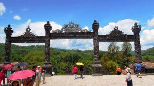 Khải Định Tomb, Hue - Iron gate