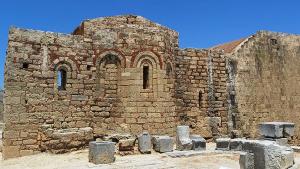 Ayios Georgios Chostos, Byzantine chapel of Saint John, Lindos Acropolis, Rhodes