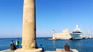 Mandraki harbor, Rhodes town