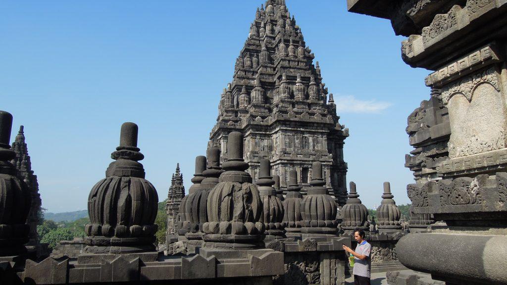 Balustrade gallery, Prambanan temple, Java, Indonesia