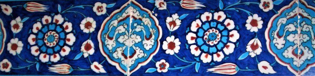 Iznik Blue tiles mosque decoration