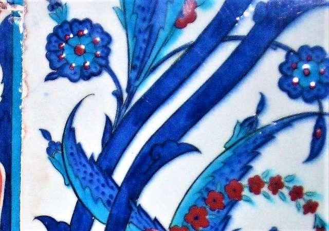 Hand made blue tiles, Rusem Pasha mosque, Istanbul